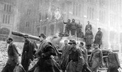 Soldiers march into Berlin