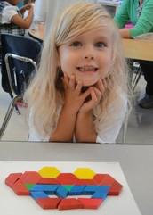 We use hands on activities in Junior Kindergarten to learn  math skills.