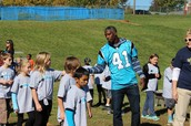 The Carolina Panthers share good times with elementary students