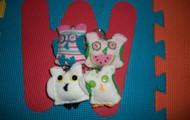 Baby Sock Owl Keychains