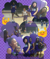 Our Cheer Squad represented at the YMLA basketball games.