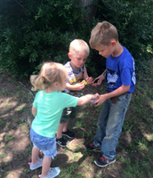 Mrs. Lewis's clan has been geocaching