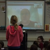Author Skypes with 4th Grade. . .