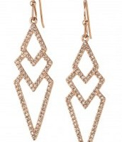 Pave Spear Earrings