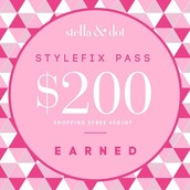 Congrats you have a $200 Style Fix Coupon for selling between $500-$1999 this quarter!