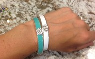Lindsay Bangles - WHITE ONE IS SOLD!*** STILL HAVE THE TURQUOISE AVAILABLE***