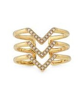 Pave Chevron Ring (Gold) $14