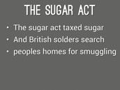 what happened in the sugar act