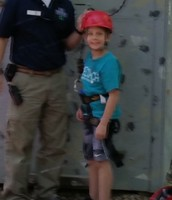 Luke is ready to climb!