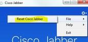 Click Reset Cisco Jabber