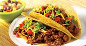 Our taco meal
