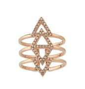 The pave spear ring