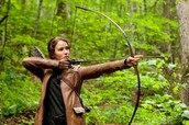 Katniss hunting outside District 12