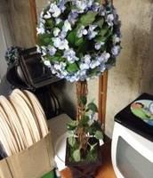 "purple hydrange topiary's 30"" tall"