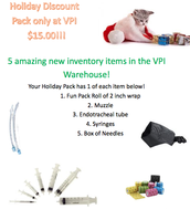 Holiday Discount Pack only at VPI $15.00!!!!!