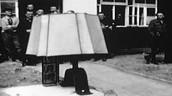 Human lampshade