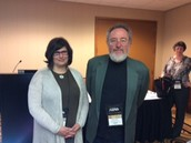 Ruth with Michael Apple who was discussant