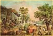 Currier & Ives: The Farmer's Home-Harvest, Circa (1860)
