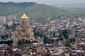 Physical features on Tbilisi