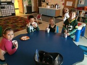 Hot Chocolate Party to celebrate meeting our reading minutes!