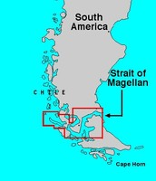 This is the straight of Magellan, the passageway that he found.