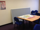 Notice boards not even on the wall....