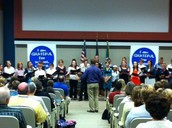 Concert Choir Sings at School Choice Ceremony