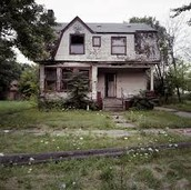 Shown here is the abandoned house that women was raped in.