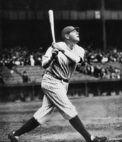 A baseball legend  Babe Ruth.