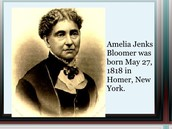 Facts about Amelia Bloomer