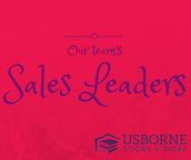 Top Sales Leaders for April on The Brinkman Books Team