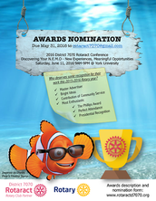 Nominate Outstanding Rotaractors for District Awards!
