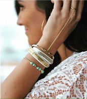 Gilded Path Double Bracelet