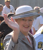 Queen Margrethe the second (queen)