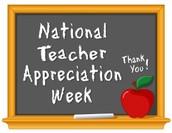 Thank you Teachers!  -                                                                               Please enjoy your week!