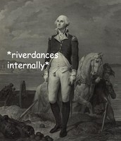 George Washington celebrating your acceptance into the U.S. in a professional manner