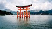 This is the Holy gate Torii landmark