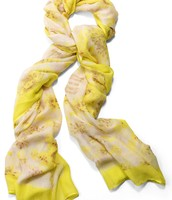 Citrine Floral Scarf $25