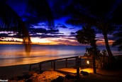 In Fiji, the sun sets at 7:21 pm