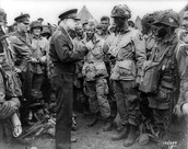 General Eisenhower talking to the troops before the Invasion