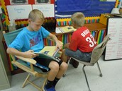 Partner Reading the Weekly Story