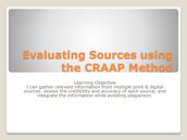 CRAAP resources for teachers