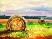 Fall Haystacks