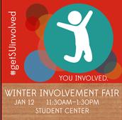 Register for the Winter Involvement Fair before break!