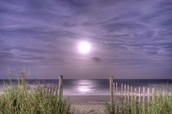 The moon on the beach