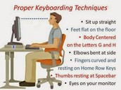 Maintain good posture!