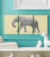 Elephant on Canvas