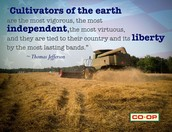 Thomas Jefferson had a lot of respect for the farmers and respected what they had done for our nation financially.