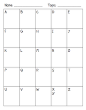 Bilingual Alphabet Chart