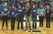 Senior Girls Basketball Players